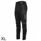 Mysenlan M61010 Men's Stylish Windproof Warm Polar Fleece Cycling Pants - Black (XL)