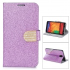 Shining Protective PU Leather Case for Samsung Galaxy Note 3 N9000 - Purple