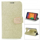 N3-3 Shining Protective PU Leather Case for Samsung Galaxy Note 3 N9000 - Golden