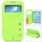Protective PU Leather Flip-open Case for Samsung Galaxy S4 i9500 - Green