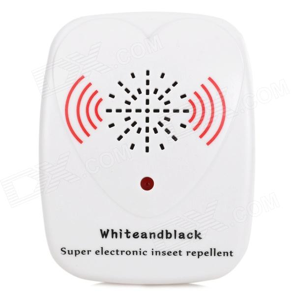2W 220V US Plug Ultrasonic Pest Repeller - White
