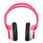 WS-2000 Stylish Digital Music Headphones w/ TF / FM - Pink + White