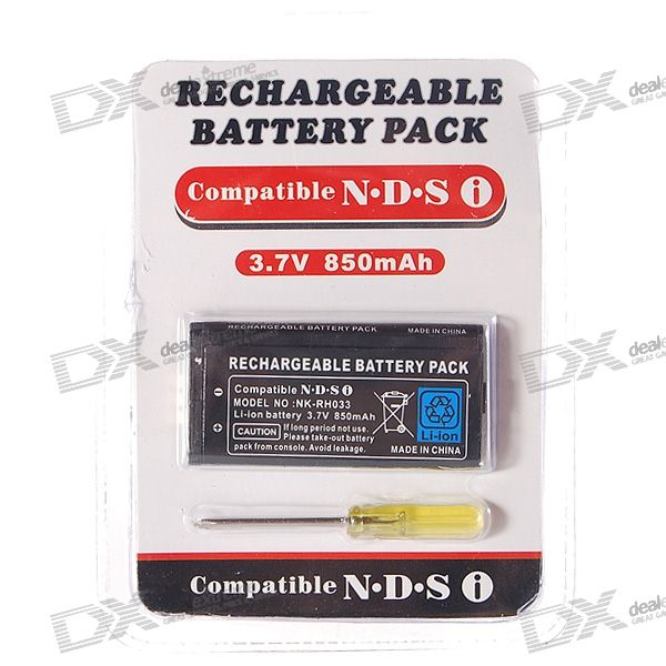 Replacement 3.7V 850mAh Li-Ion Battery Pack with Screwdriver for NDSi/DSi