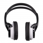 WS-2000 Stylish Digital Music Headphones w/ TF / FM - Black + White