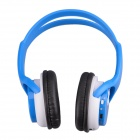 WS-2000 Stylish Digital Music Headphones w/ TF / FM - Blue + White