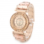 Fashion Women's Zinc Alloy Wrist Watch - Golden (1 x SR626 Battery)