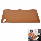 PU Leather + Electronic Component 60W Heating Table Pad - Coffee (24V)