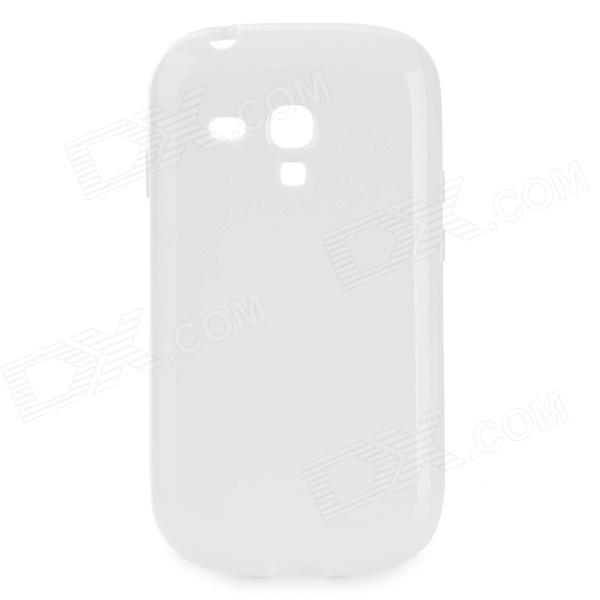 Protective TPU Back Case for Samsung Galaxy S3 Mini i8190N / i8190 / i8160 - White ultra slim protective pc back case for samsung galaxy s3 mini i8190 translucent white