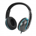 Maibosi MA-22 Hi-Fi 3.5mm Plug Headband Stereo Headphone w/ Mic / Remote - Black + Blue