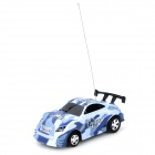 FENGOL TOYS 8808 Mini 1:63 2-CH R/C Racing Car w/ Remote Controller - Blue Camouflage (2 x AA)