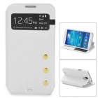 Protective PU Leather Case w/ Display Window for Samsung Galaxy S4 i9500 - White