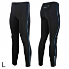 Outto 115 Men's Elastic Cooldry Skinny Pants for Sports / Exercise - Black (L)
