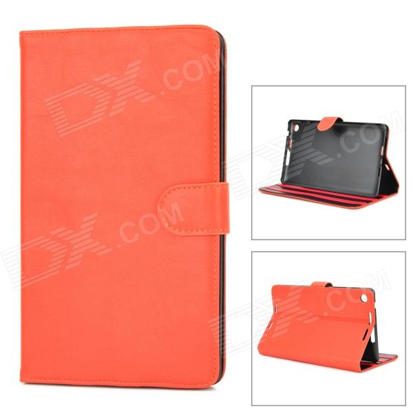 Protective PU Leather Flip-Open Case w/ Stand for Google Nexus 7 II - Orange