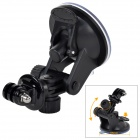 "Universal Car Mounted Suction Cup PC Holder for GPS / 1/4"" Camera / Gopro Hero 4/2 / 3 / 3 + - Black"