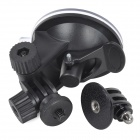 "Universal Car Mounted Suction Cup PC Holder for GPS / 1/4"" Camera / Gopro Hero 2 / 3 / 3 + - Black"