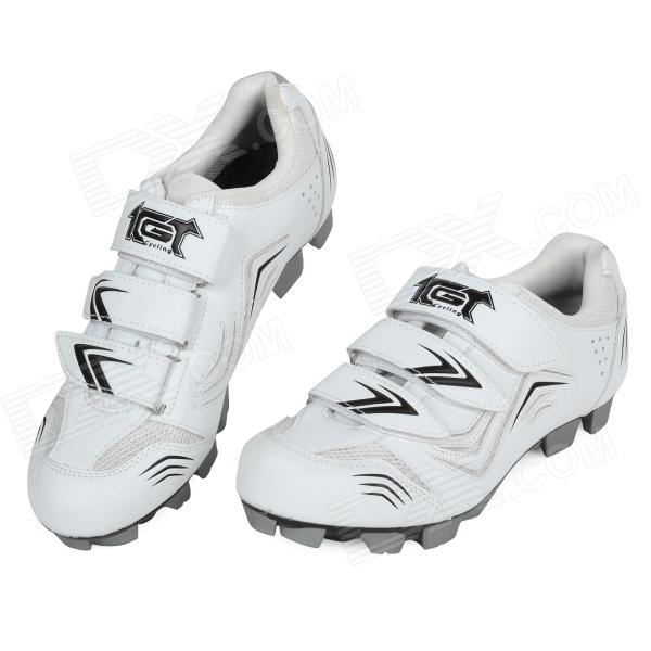 JAD SPO-108 Stylish Bicycle Cycling Riding Shoes - White (Size 42)