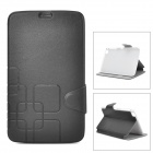 Protective PU Flip-Open Case w/ Stand for Samsung Galaxy Tab 3 8.0 T310 / T311 - Black + Light Grey