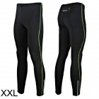 Outto 115# Men's Elastic Cooldry Skinny Pants for Sports / Exercise - Green + Black (XXL)