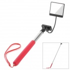 T-200LM Stainless Steel Handheld Monopod w/ Mirror / Strap - Red + Silver