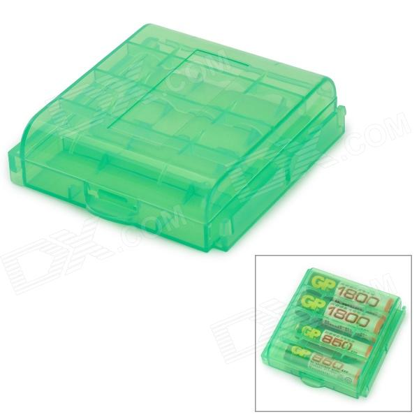 AAA / AA ABS Battery Storage Box - Green
