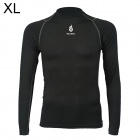 WOLFBIKE BC215-0XL Men's Sports Tight Long-Sleeved Quick-drying Shirt - Black (Size XL)