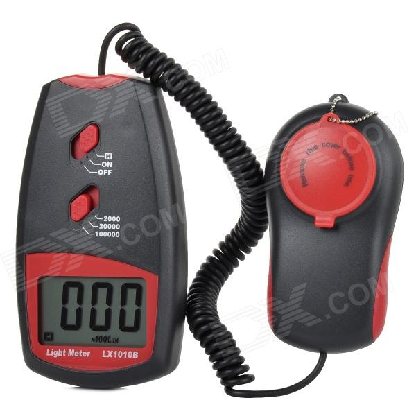 LX1010B Portable Digital Light 1~10000 Lux. Meter Illuminometer - Red + Deep Grey tenamrs yf 172 lcd display digital lux meter illuminometer light meter