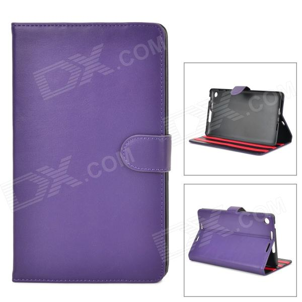 Protective PU Leather Flip-Open Case w/ Stand for Google Nexus 7 II - Purple