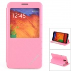 KALAIDENG Protective PU-Leder Fall w / Display-Fenster für Samsung Galaxy Note N9000 3 - Pink