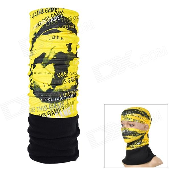 NUCKILY PH05 Outdoor Fleece Headscarf - Black + Yellow