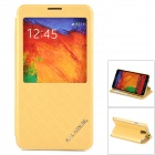 KALAIDENG Protective PU-Leder Fall w / Display-Fenster für Samsung Galaxy Note N9000 3 - Golden