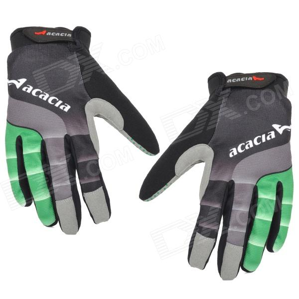 цена на Acacia 0394311 Cycling Riding Full-Finger Gloves - Black + Grey (Size L / Pair)