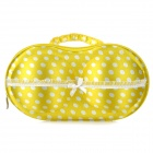 Portable 3D Bra Style Underwear Carrying Pouch Bag - White + Yellow