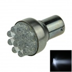 1156 / BA15S / P21W 0.5W 55lm 12-LED White Car Steering Light / Backup Light / Turn Lamp - (12V)