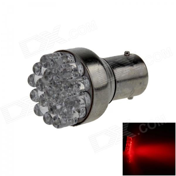 1157 / BAY15D 0.7W 80lm 19-LED Red Car Steering Light / Backup Light / Brake Lamp - (12V)