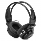 BS-361 3.5mm Wireless Headset Headphones w/ TF / FM / Speaker - Black