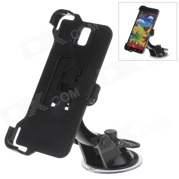360 Degree Rotation Holder Mount Bracket w/ H07 Suction Cup for Samsung Galaxy Note 3 N9006 - Black 360 degree rotational car mount holder w suction cup for samsung galaxy note 3 n9000 n9002