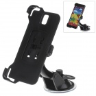 360 Degree Rotation Holder Mount Bracket w/ H07 Suction Cup for Samsung Galaxy Note 3 N9006 - Black