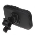 M01 360 Degree Rotation Bracket w/ PU Leather Waterproof Bag for Samsung Galaxy N7100 / i9220 -Black