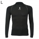 WOLFBIKE BC215-00L Men's Sports Tight Long-Sleeved Quick-drying Shirt - Black (Size L)