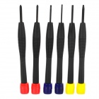 UF TOOLS AA01500026 Professional 6-in-1 Watch Repair Screwdrivers Kit - Red + Blue + Yellow + Red