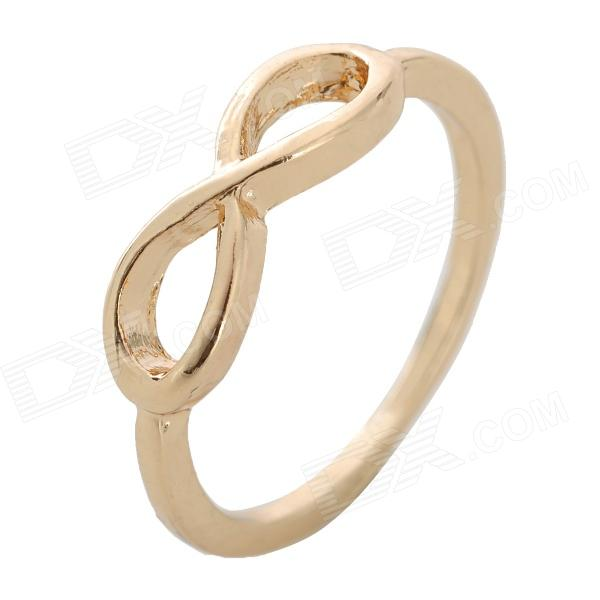 LX-J21 Fashion Infinity Symbol Style Zinc Alloy Ring - Golden