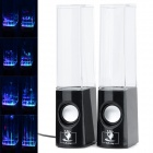 Dancing Water Speaker w / RGB LED Light for iPhone / iPad / PC / MP3 - Schwarz