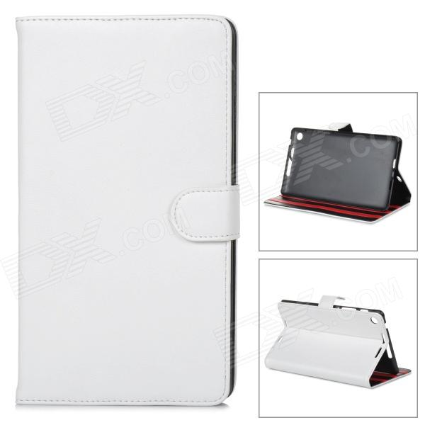 Styish Flip-open PU Leather Case w/ Holder for Google Nexus 7 II - White stylish flip open pu leather case w holder 360 rotating back for google nexus 7 ii sapphire