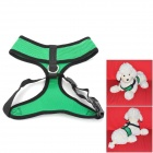 Breathable Mesh Polyester Pet's Harness - Grass Green + Black (Size M)