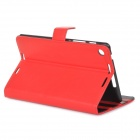 Styish Flip-open PU Leather Case w/ Holder for Google Nexus 7 II - Red