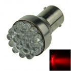 1156 / BA15S / P21W 0.7W 80lm 19-LED Red Car Steering Light / Backup Light / Turn Lamp - (12V)