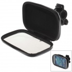 M01 360 Degree Rotation Bracket w/ PU Leather Waterproof Bag for Samsung Galaxy S4 i9500 - Black