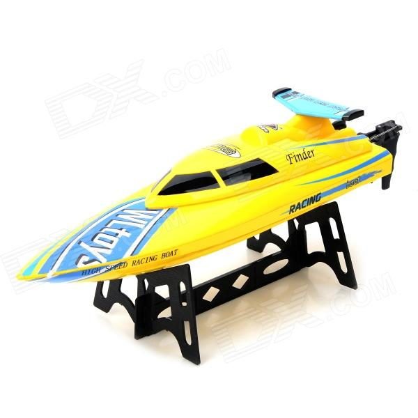 WLtoys WL911 AC Rechargeable 3-CH R/C Boat w/ Remote Controller - Yellow wltoys wl r4 2 9 lcd 6 axis multi function remote controller for r c toy black 4 x aa
