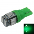 T10 / 194 / 168 / W5W 1W 80lm 560nm 10 x SMD 5630 LED Green Car Clearance lamp / Side Light - (12V)