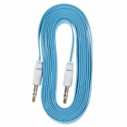3.5mm TRS Male to Male Audio Flat Cable - Light Blue + White (2m)